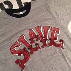 Viintage 1970s SLAVE protest shirt sz L Cotton Made in USA DEADSTOCK sex ringer