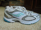 SAUCONY Womens Omni 6 white silver aqua Running Training Athletic Shoes Size 75