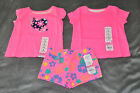 NEW Jumping Beans Girls 3 Months LOT 2 Short Sleeve Shirts and 1 Pair of Shorts