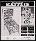 1966 Gottlieb Mayfair pinball machine photo vintage trade print ad