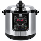 BCP 6L 1000W Stainless Steel Electric Pressure Cooker - Silver