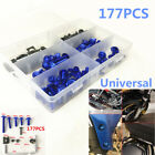 177Pcs Motorcycle Blue Fairing Bolt Kit Bodywork Screws Spire Screw Spring Nuts