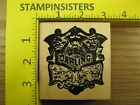 Rubber Stamp Darling Badge Medal Rubber Baby Buggy Bumpers Stampinsisters 1853