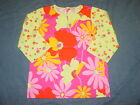 Girls HANNA ANDERSSON Shirt w 3 4 Sleeves Sz 150 or 12 Pink Orange FLORAL
