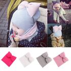 Cute Toddler Kids GirlBoy Baby Infant Bowknot Hat Winter Warm Knit Beanie Cap