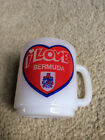 Vintage Glasbake I LOVE BERMUDA Mug Milk Glass USA Brittish Flag Great Britian