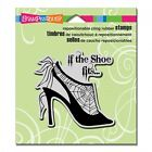 STAMPENDOUS RUBBER STAMPS CLING IF THE SHOE FITS HALLOWEEN NEW cling STAMP