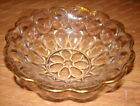 Anchor Hocking Glass, Bubble Pattern, Scalloped Gold Rim Serving Bowl (1960's)