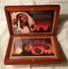 4 coin boxed set 2011 Native American Colorized Gold  Silver enhanced  UNC