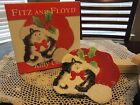 Fitz and Floyd KITTY CLAUS Canape Plate 2019/1015 NIB Frolicking in Santa's Hat