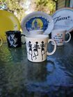 JAVA MUG HALLOWEEN trio of skeletons FIESTAWARE FIESTA WARE 12 OZ slate gray