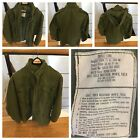 Vietnam Era M65 1972 Field Coat True Vintage Cold Weather Coat sz Small Long