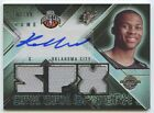 Russell Westbrook 2008 09 SPX #114 OKC Thunder RC rookie Jersey auto 61 99