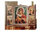 Russian Catholic Orthodox Icon Madonna and Child Triptych Nativity of Mary Gift