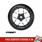 Fasen Jet 110mm Metal Core Scooter Wheel Black Chrome Silver inc Bearings