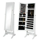 Mirror Jewelry Cabinet Organizer Armoire Mirror Rings Necklaces Bracelets