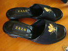 ZALO Womens Needlepoint Shoes Bumble Bees Slip On Mules Kitten Heels Sz 7M