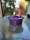 FIESTA large COVERED CASSEROLE W/LID plum purple NEW 90 oz
