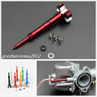 Professional Red Metal Motorcycles Air Carburetor Easy Adjust Fuel Mixture Screw