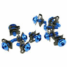 10pcs Spire M6 6mm Fairing Bolts Nuts Fastener for Yamaha YZF R1S R6S FZR FZ
