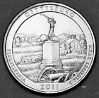 2011 P MINT Gettysburg Quarter America The Beautiful Mint Uncirculated Clad