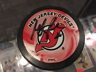 MARTIN BRODEUR NEW JERSEY DEVILS #30 SIGNED PUCK FROM EQUIPMENT MANAGER
