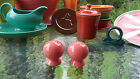 ROUND BALL BULB SALT & PEPPER SHAKER flamingo pink FIESTA
