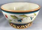 1 Coupe Bowl Global Market Blue Floral Fitz & Floyd Embossed Floral Bird 314947