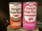 Weight Watchers Strawberry And Orange Vintage Steel Soda Cans