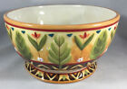 1 Coupe Cereal Bowl Global Market Bird Floral Fitz Floyd Embossed Floral 314945