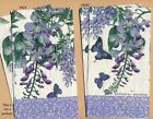 PN052 Paper Napkins by Michel Design Works 4x8 Butterflys Wisteria Set of 4