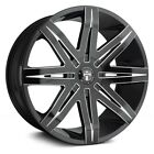 DUB Stacks Wheels 22x95 Gloss Black with Accents +25 5x1397