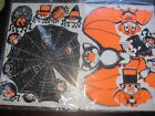 VINTAGE HALLOWEEN Paper Punch Outs 3D Spider Web with Spiders  Bats