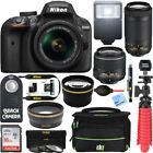 Nikon D3400 DSLR Camera + 18 55mm VR and 70 300mm Lens Bundle Black