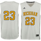 adidas 23 Michigan Wolverines White Iced Out Replica Jersey College