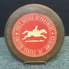 1920S OFFICIAL US POST OFFICE DEPARTMENT LG WOODEN PLAQUE EMBLEM W STAND