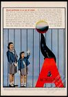 1953 sea lion seal with ball photo Acrilan fabric Peggy n Sue clothes print ad