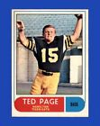 1968 O Pee Chee CFL Set Break  56 Ted Page NR MINT