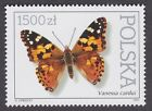 BUTTERFLY STAMP NATURE 1991 POLAND POSTAGE WILDLIFE POLSKA BUTTERFLIES INSECTS