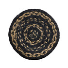 Farmhouse Jute Braided CANDLE MAT TRIVET 8 Round Country Primitive Look