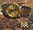 Rolex Datejust Mens 2 Tone 18K Gold stainless steel 16013 36mm watch