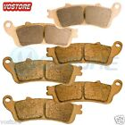 F+R Sintered Brake Pads for 2001-2011 Honda GL 1800 1800A ABS Goldwing VTX 1800