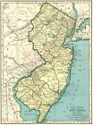 1949 Antique NEW JERSEY Map Vintage New Jersey State Map Original Map 4438