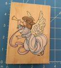 Precious Moments Trumpet Angel Stampendous Wood Mounted Rubber Stamp