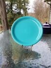DINNER bistro PLATE Turquoise blue HOMER LAUGHLIN FIESTA WARE 10.5