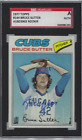 Autographed 1977 Topps Bruce Sutter Chicago Cubs #144 SGC Slabbed