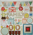 Crate Paper CLOSE KNIT 12 x 12 Chipboard Elements Save 45