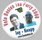 BOSTON TEA PARTY JAY AND KNAPP 2008 JUGATE POLITICAL CAMPAIGN PIN