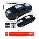 Ford Mustang w Camear Lip Spoiler 2013+ Rally Stripes Graphic Kit - Red