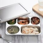 Stainless Steel Lunchbox Divided Lunch Food Serving Bento Box Tray